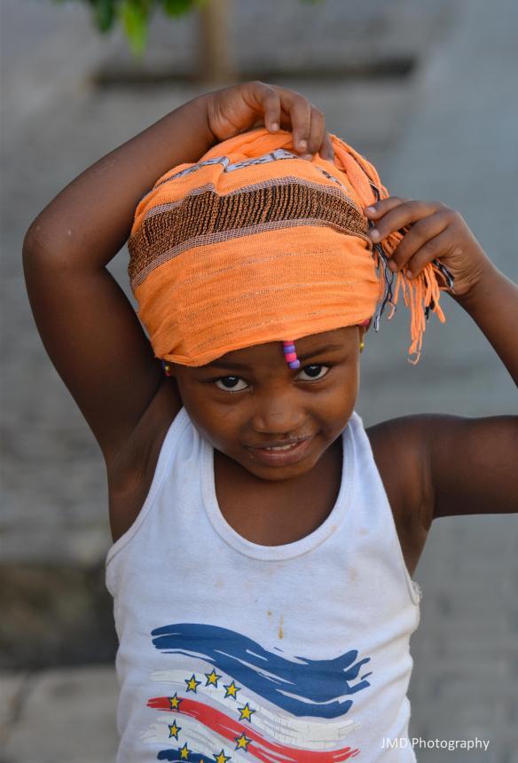 Kriola in an Orange Scarf - Santiago, Cape Verde 2012