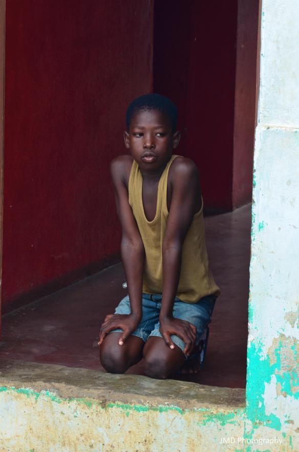 Boy in Doorway - Santiago, Cape Verde 2012